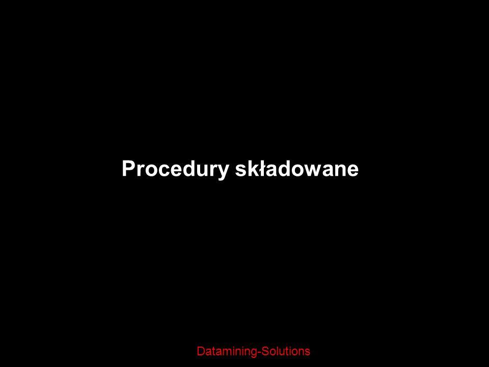 Procedury składowane 22/03/2017