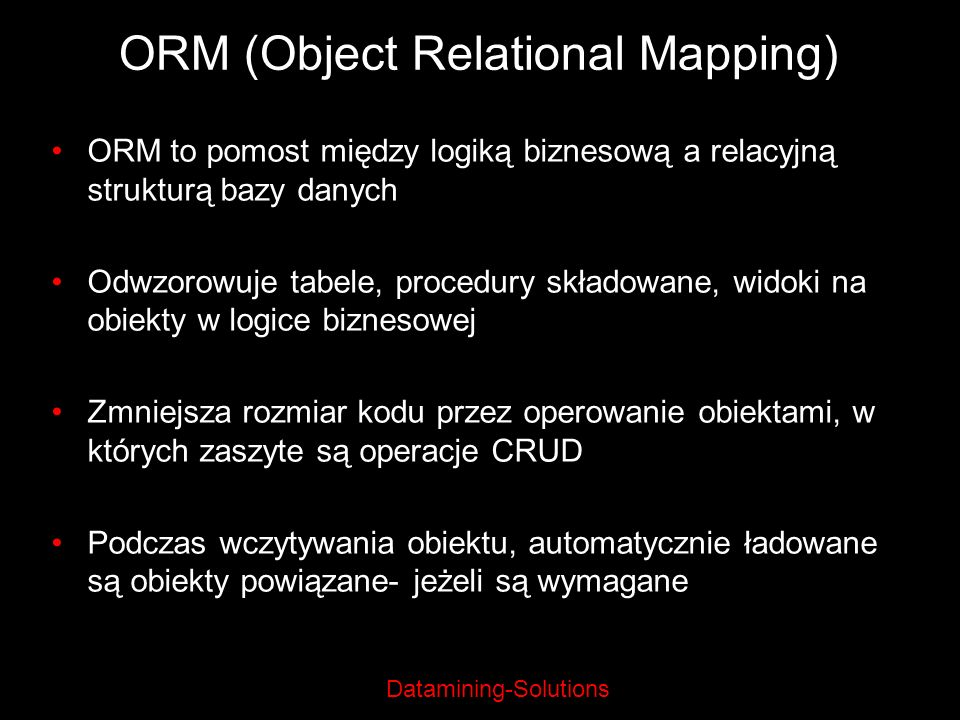 ORM (Object Relational Mapping)