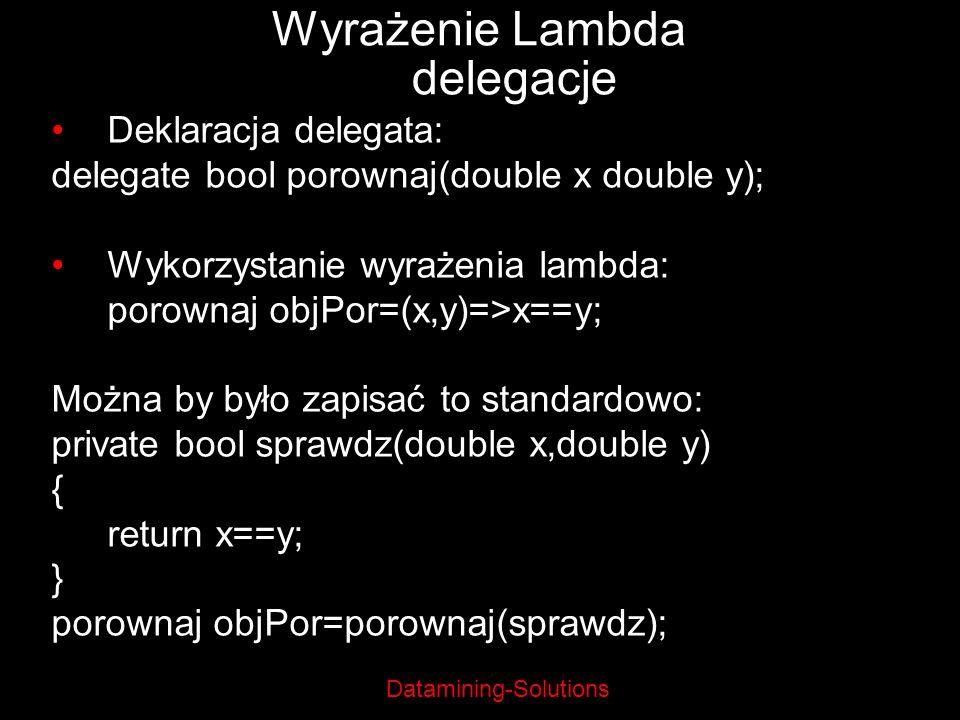 Wyrażenie Lambda delegacje