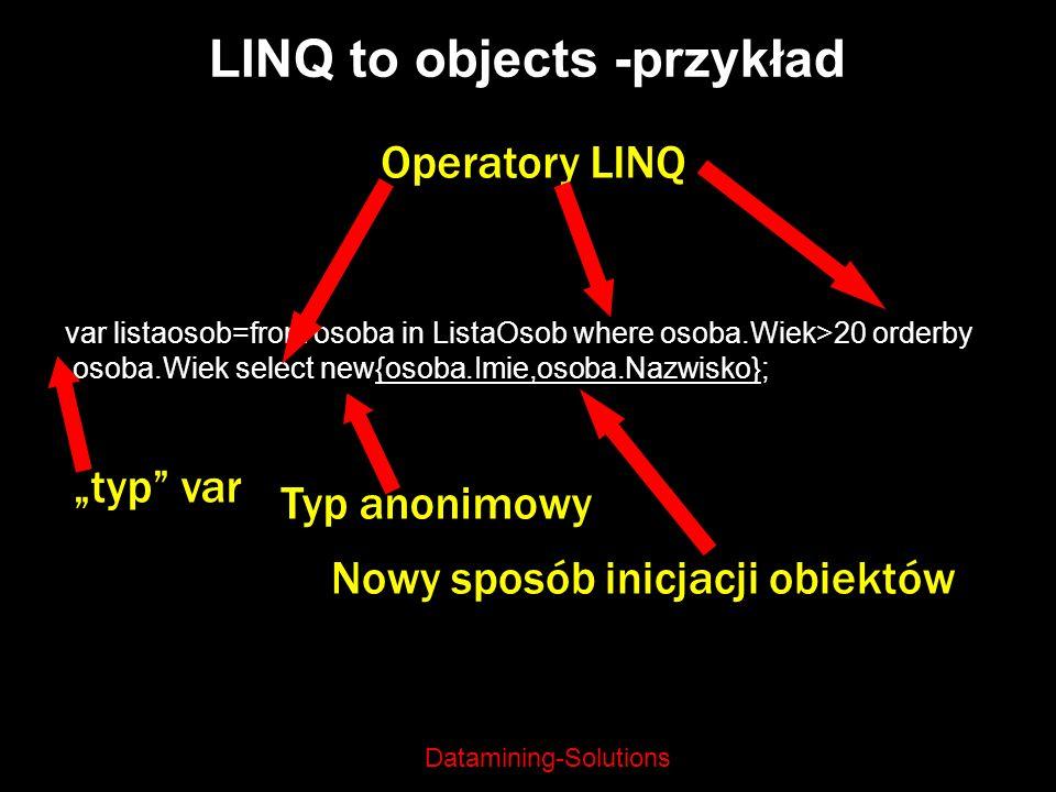 LINQ to objects -przykład
