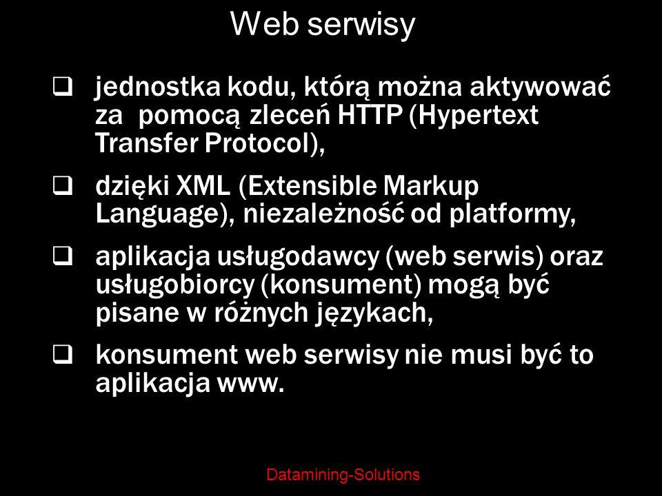 Web serwisy jednostka kodu, którą można aktywować za pomocą zleceń HTTP (Hypertext Transfer Protocol),