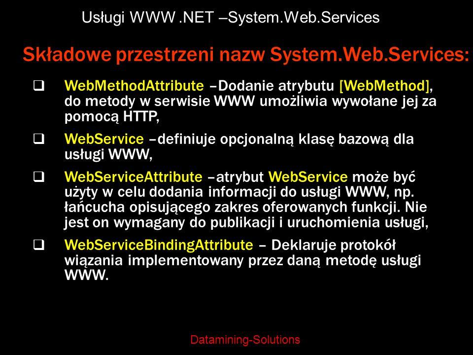 Usługi WWW .NET –System.Web.Services