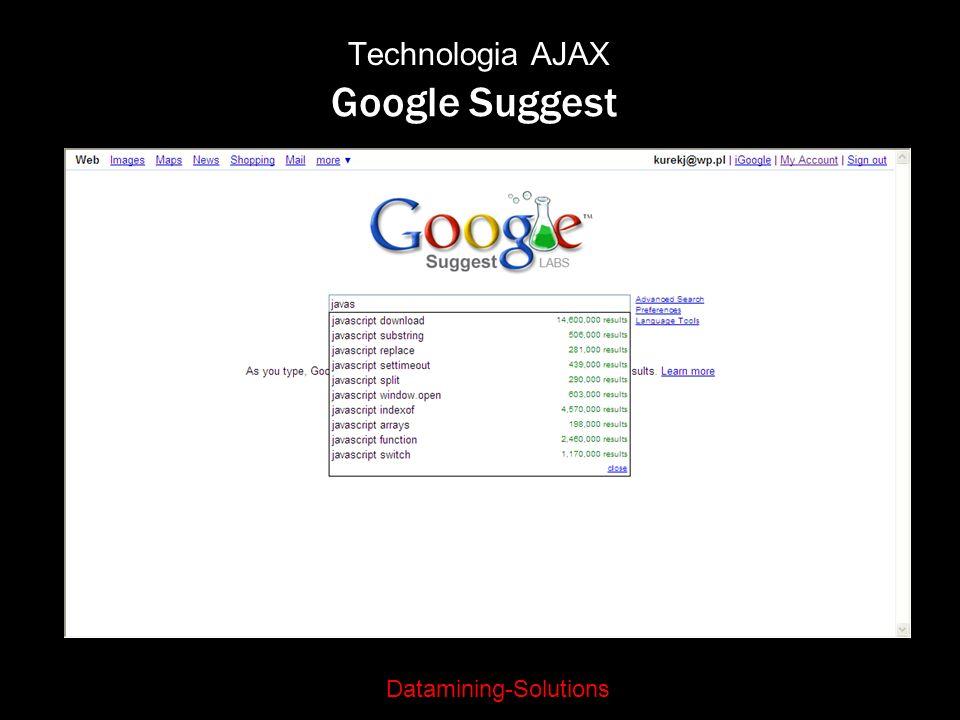 Technologia AJAX Google Suggest