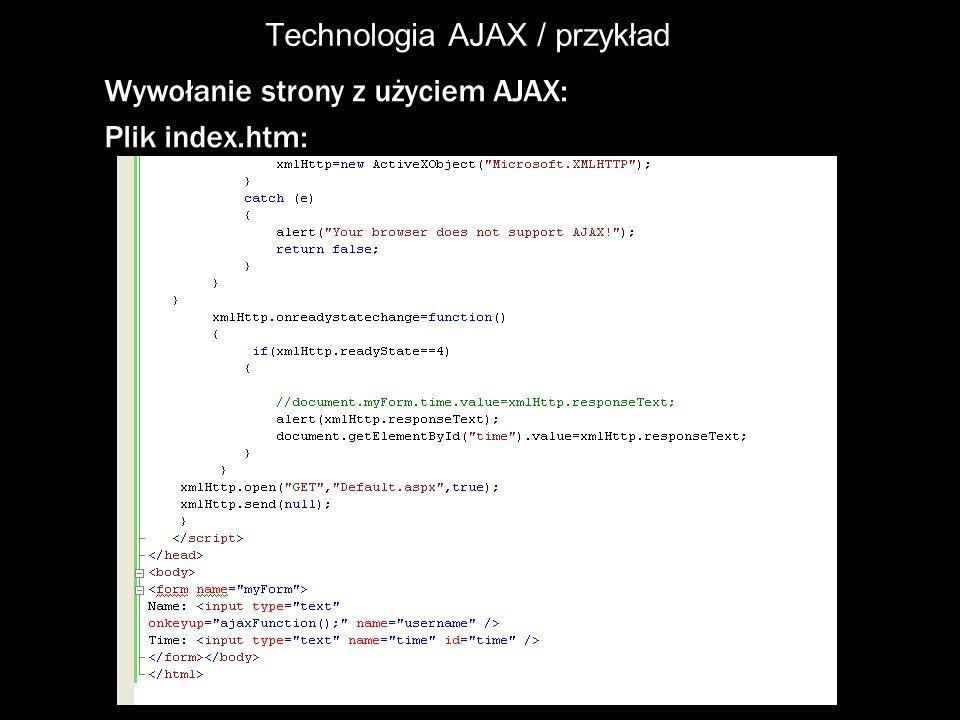 Technologia AJAX / przykład