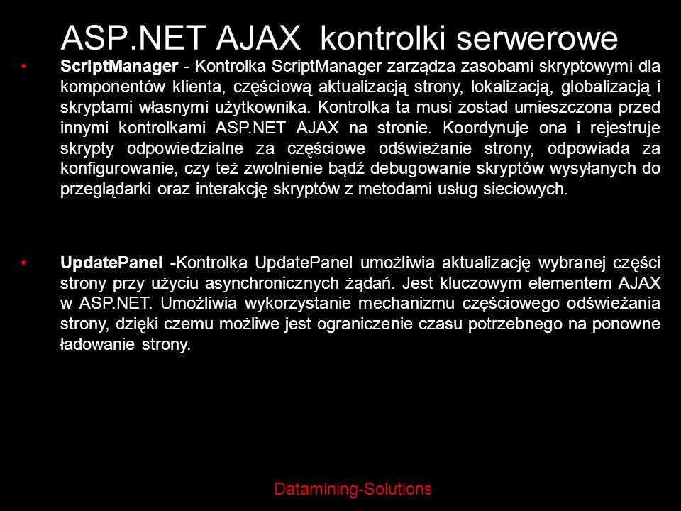 ASP.NET AJAX kontrolki serwerowe
