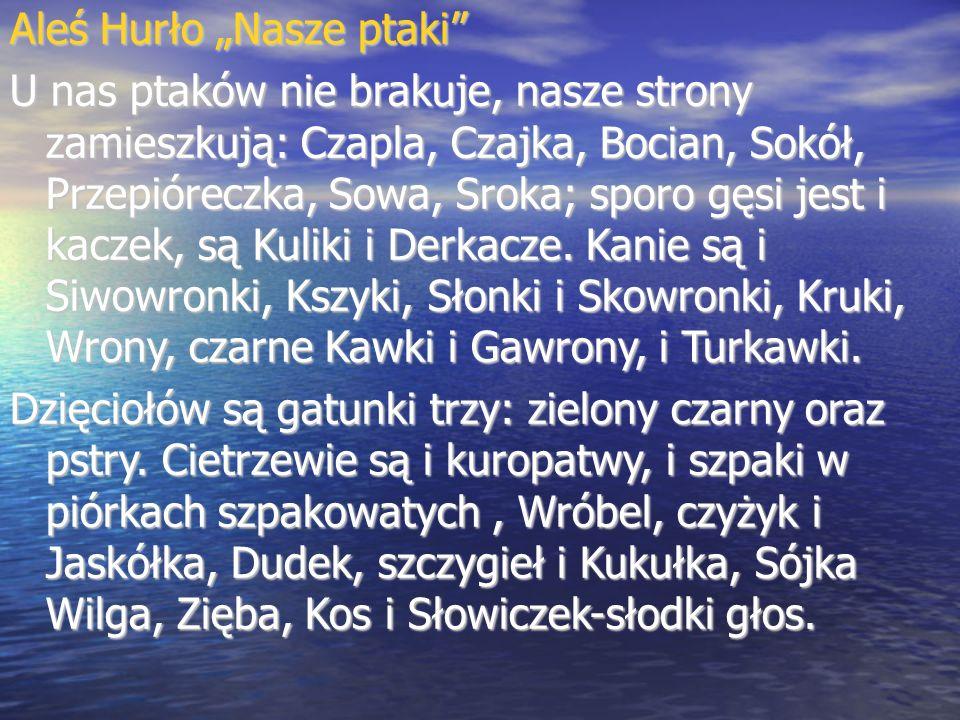 """Aleś Hurło """"Nasze ptaki"""