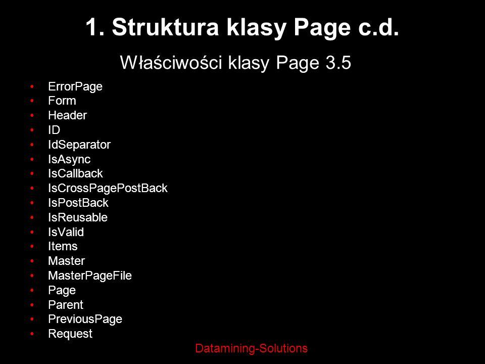 1. Struktura klasy Page c.d.