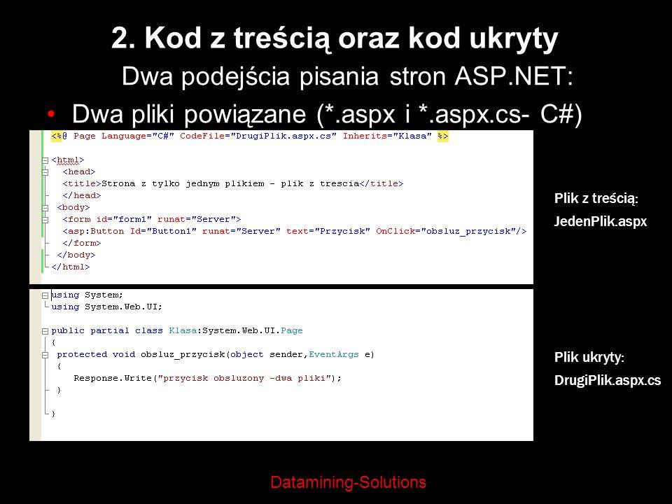 2. Kod z treścią oraz kod ukryty