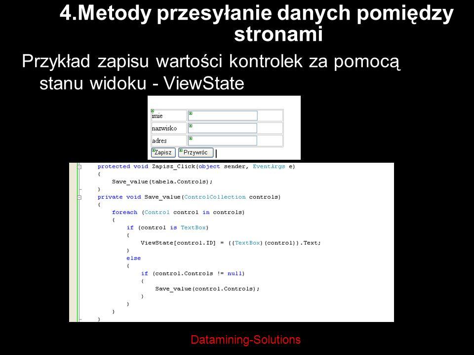 4.Metody przesyłanie danych pomiędzy stronami