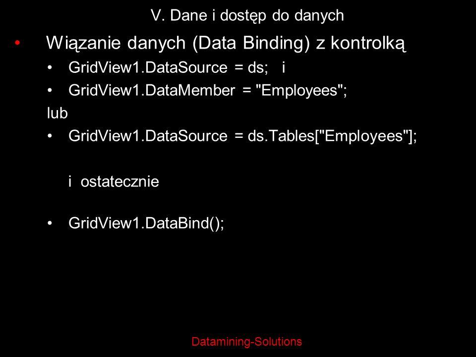 V. Dane i dostęp do danych