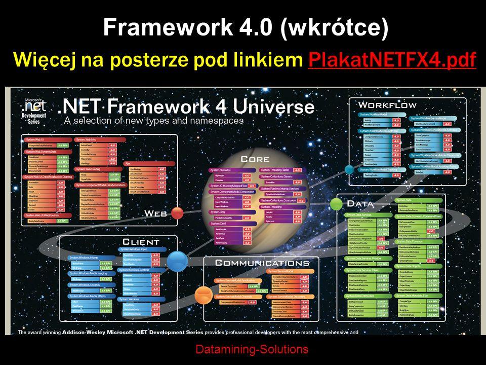 Framework 4.0 (wkrótce) Więcej na posterze pod linkiem PlakatNETFX4.pdf
