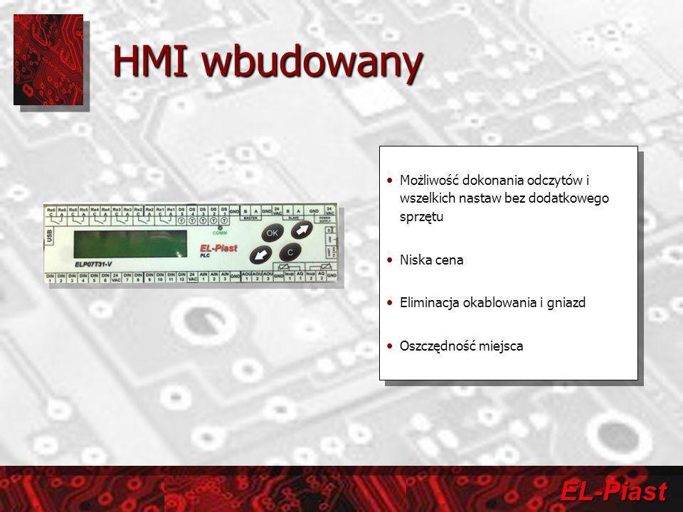 HMI wbudowany Możliwość dokonania odczytów i wszelkich nastaw bez dodatkowego sprzętu. Niska cena.