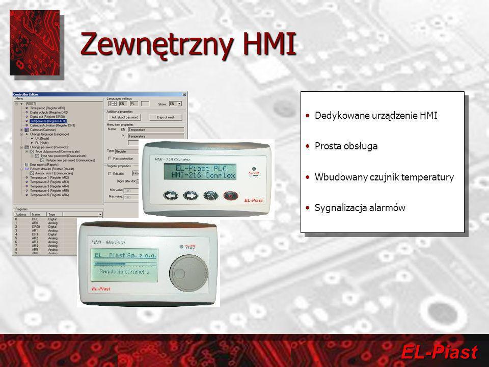 Zewnętrzny HMI Dedykowane urządzenie HMI Prosta obsługa