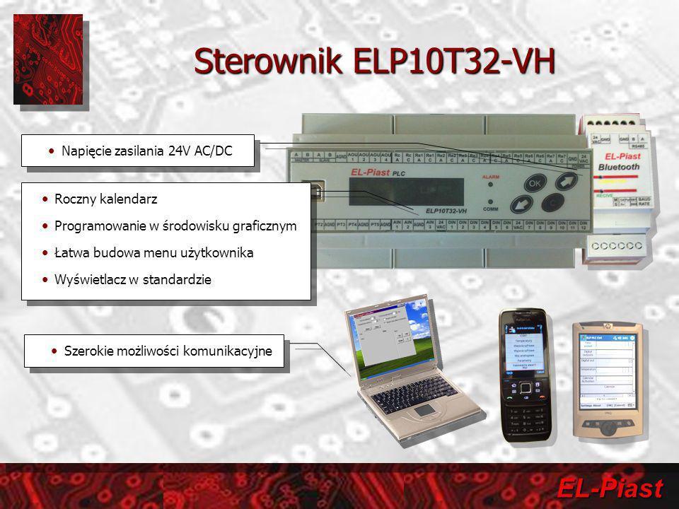 Sterownik ELP10T32-VH Napięcie zasilania 24V AC/DC Roczny kalendarz