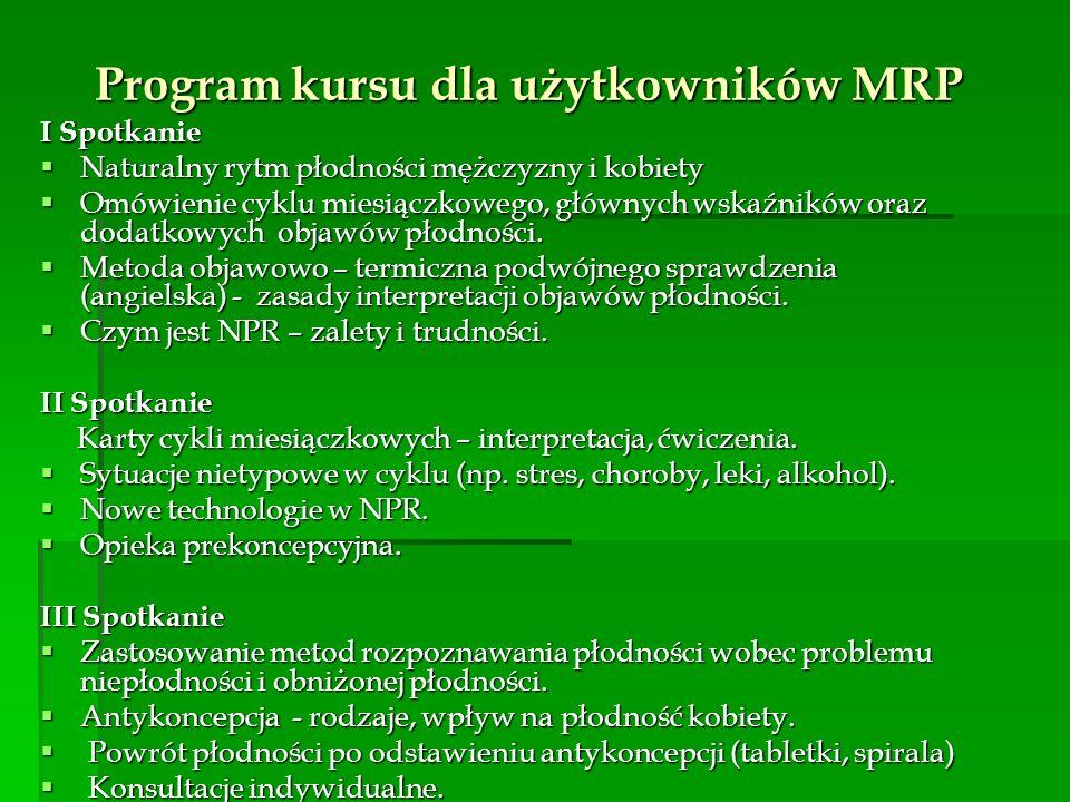 Program kursu dla użytkowników MRP