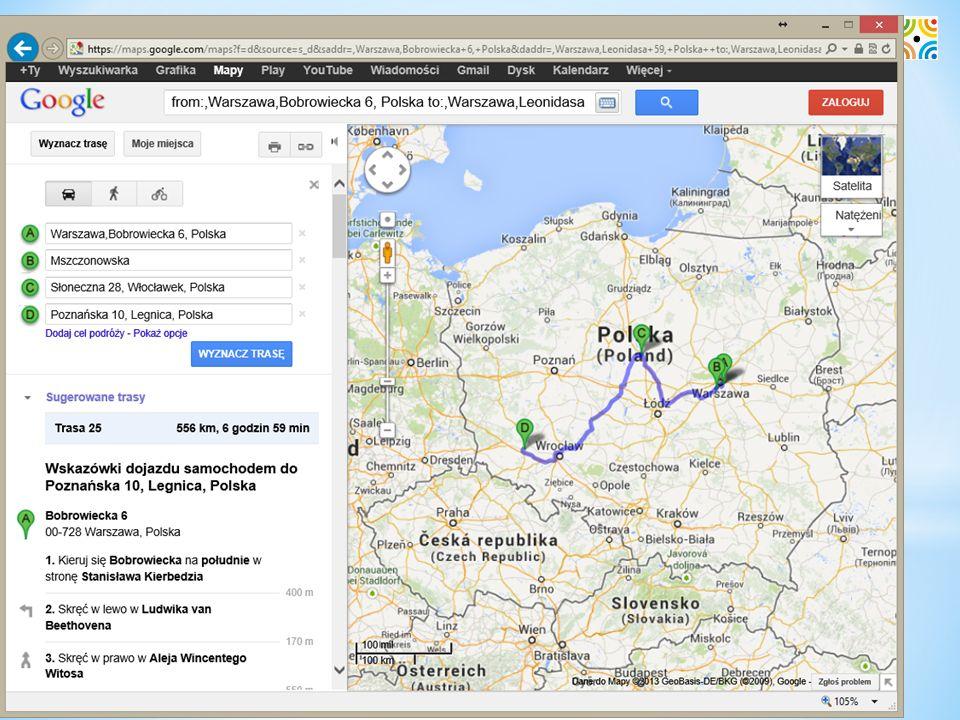 CRM – trasa w Google Maps