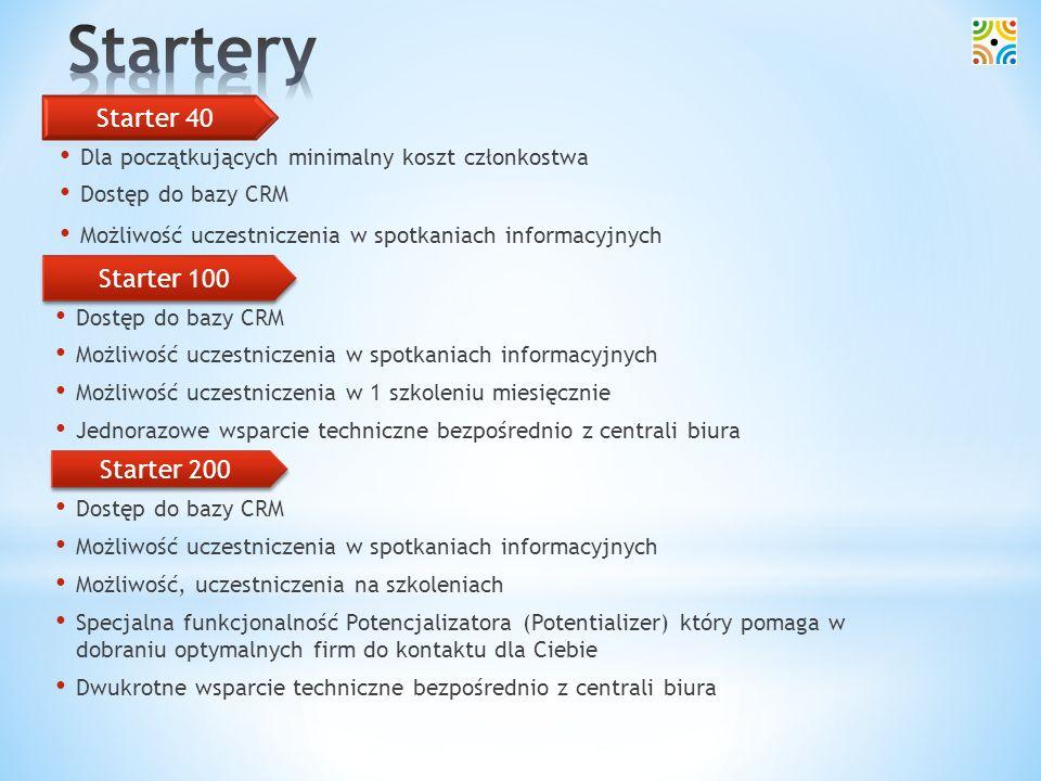 Startery Starter 40 Starter 100 Starter 200