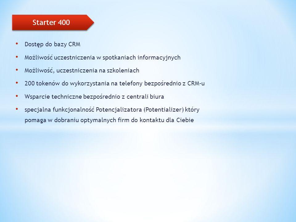 Starter 400 Dostęp do bazy CRM