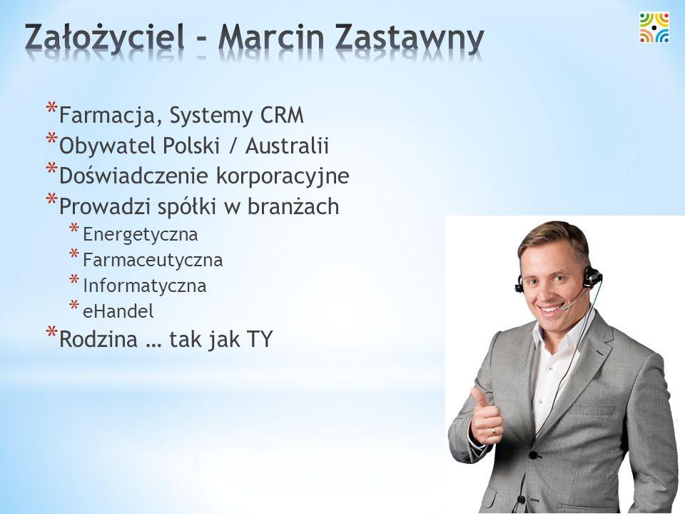 Założyciel - Marcin Zastawny