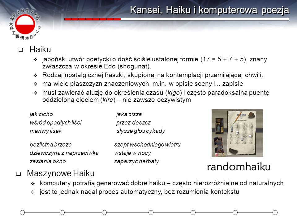 Kansei, Haiku i komputerowa poezja