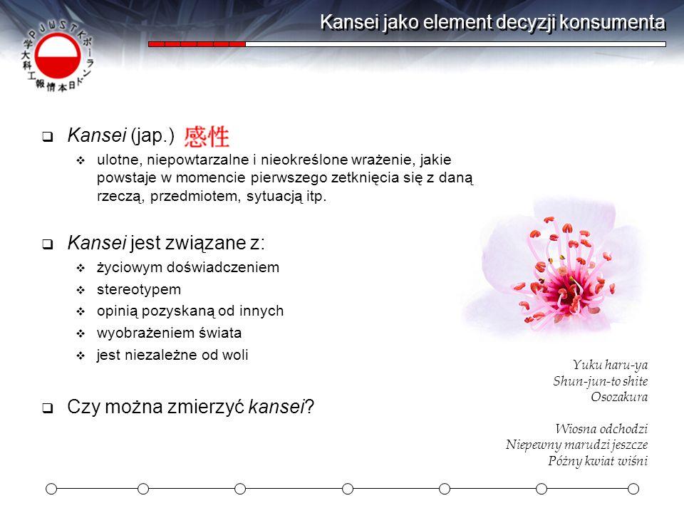 Kansei jako element decyzji konsumenta