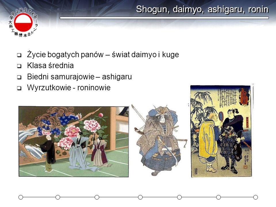 Shogun, daimyo, ashigaru, ronin