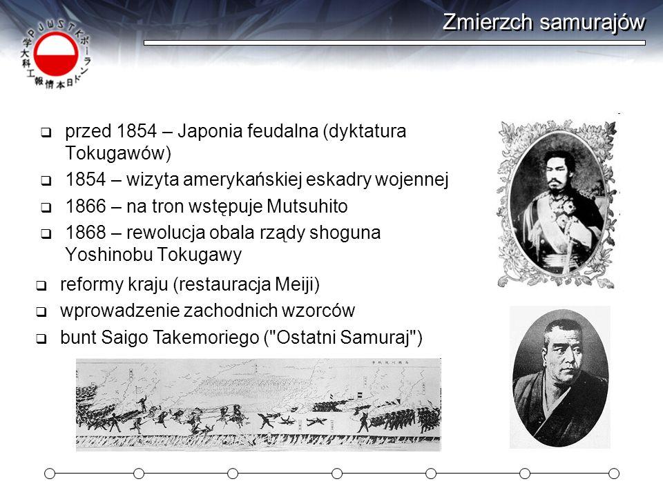 Zmierzch samurajów przed 1854 – Japonia feudalna (dyktatura Tokugawów)