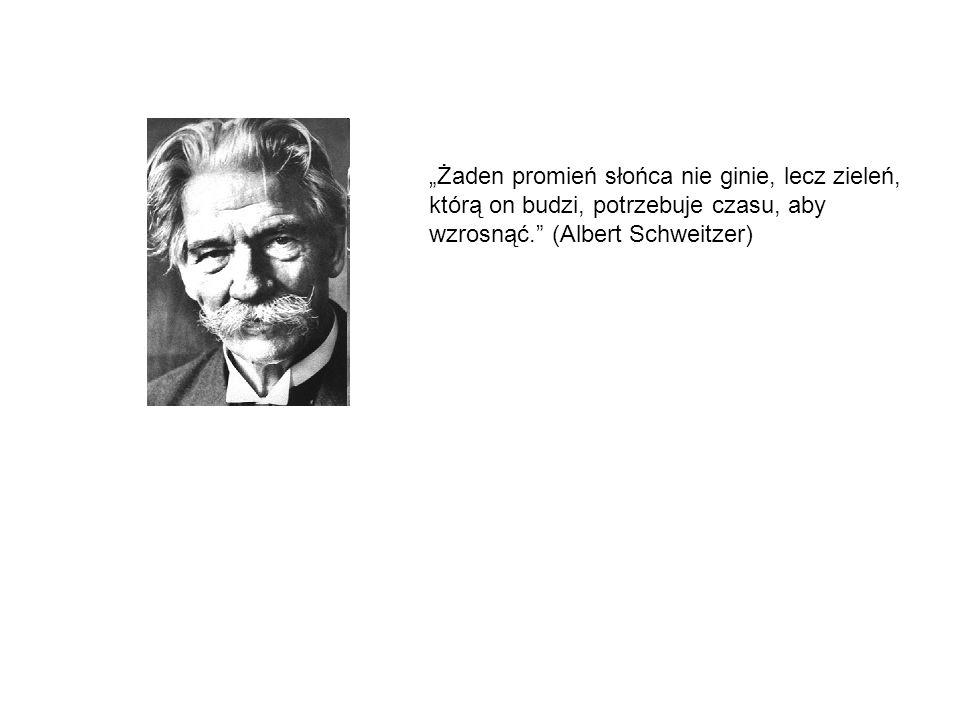 """""""Żaden promień słońca nie ginie, lecz zieleń, którą on budzi, potrzebuje czasu, aby wzrosnąć. (Albert Schweitzer)"""
