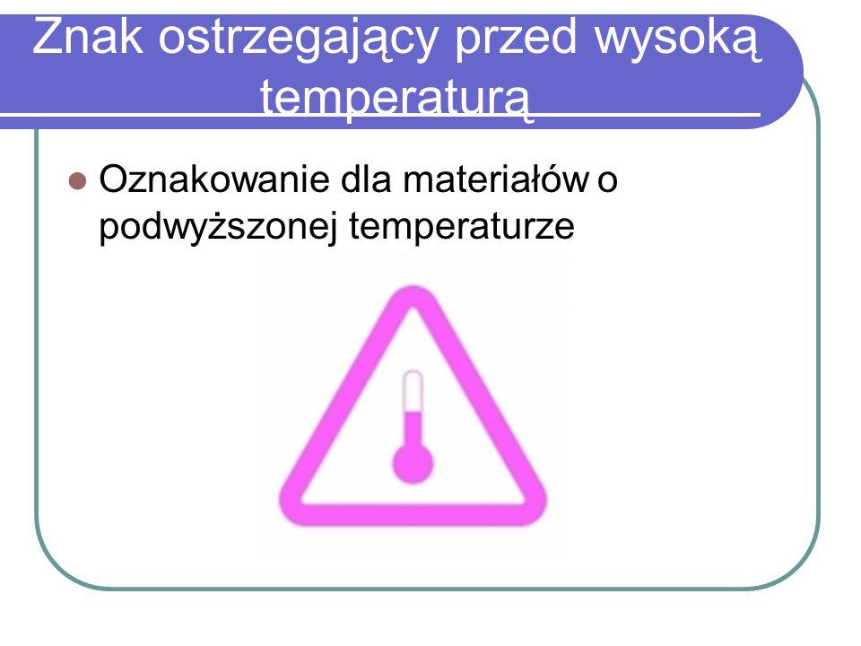 Znak ostrzegający przed wysoką temperaturą