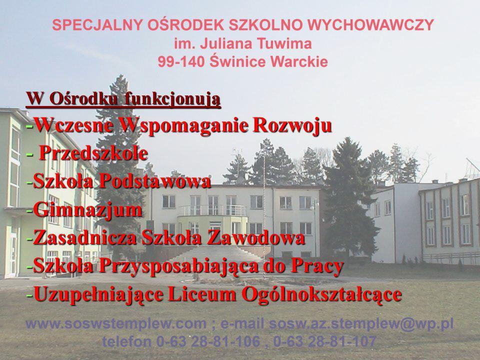-Wczesne Wspomaganie Rozwoju - Przedszkole Szkoła Podstawowa Gimnazjum