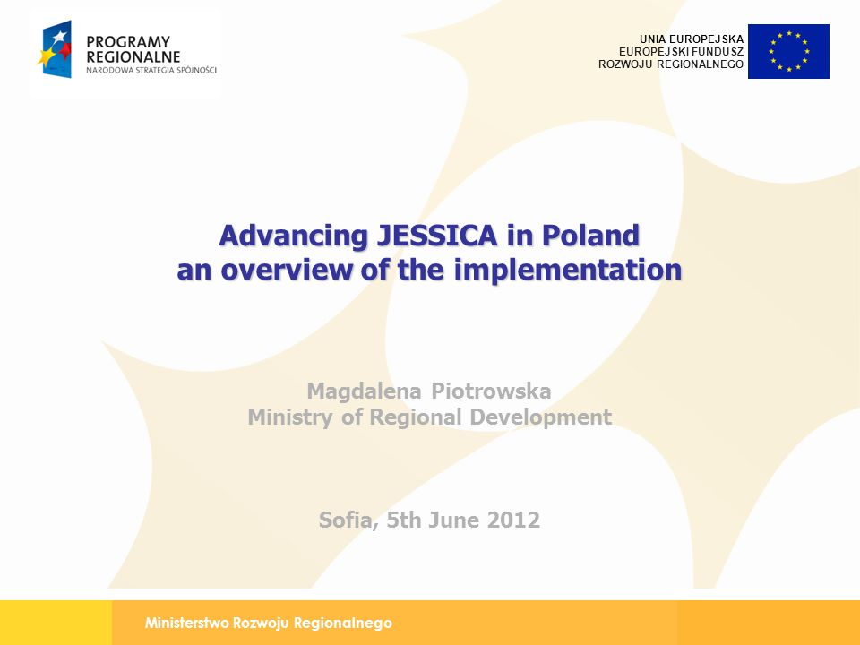 Advancing JESSICA in Poland an overview of the implementation