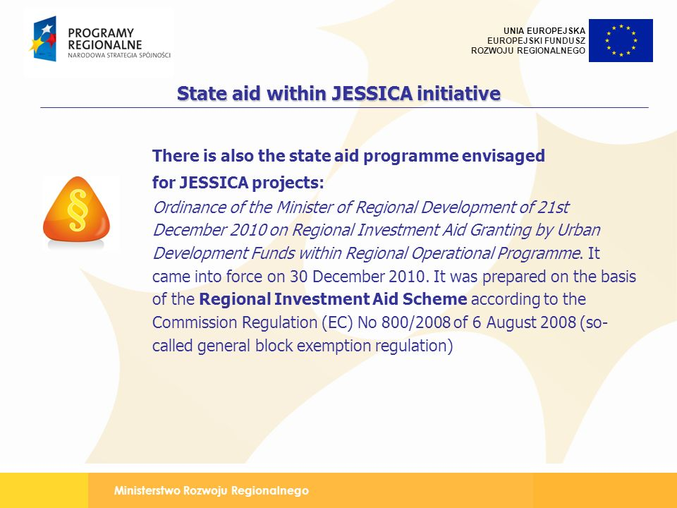 State aid within JESSICA initiative