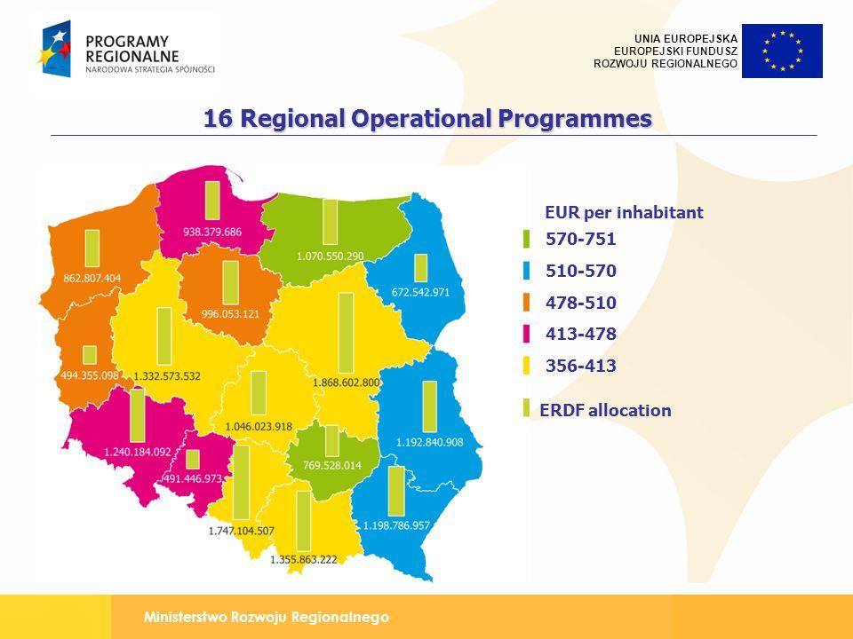 16 Regional Operational Programmes