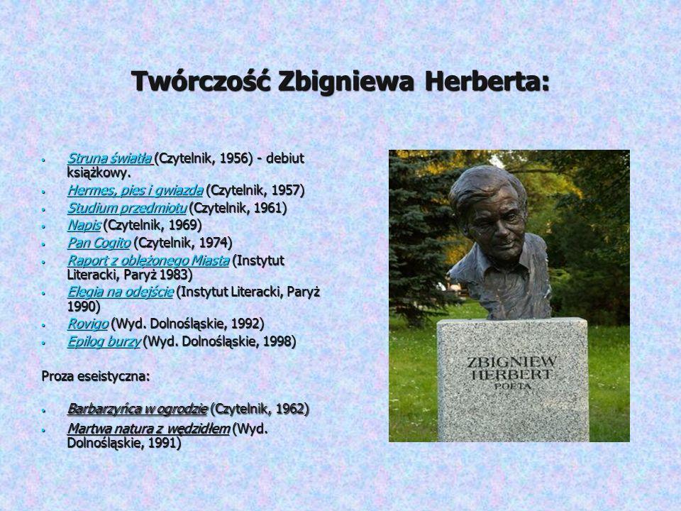 Twórczość Zbigniewa Herberta: