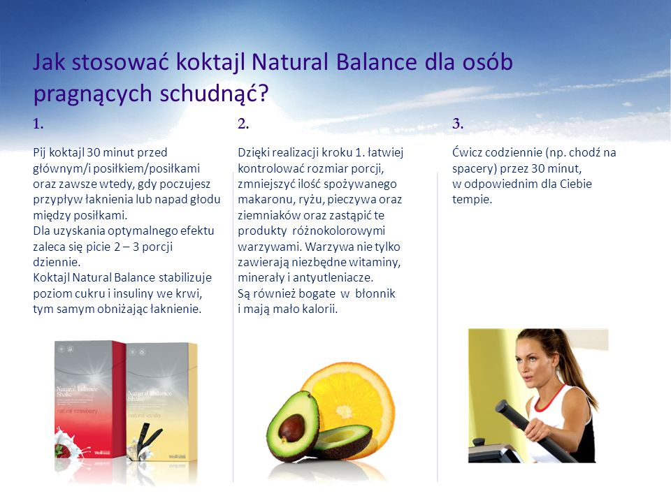 Jak stosować koktajl Natural Balance dla osób pragnących schudnąć