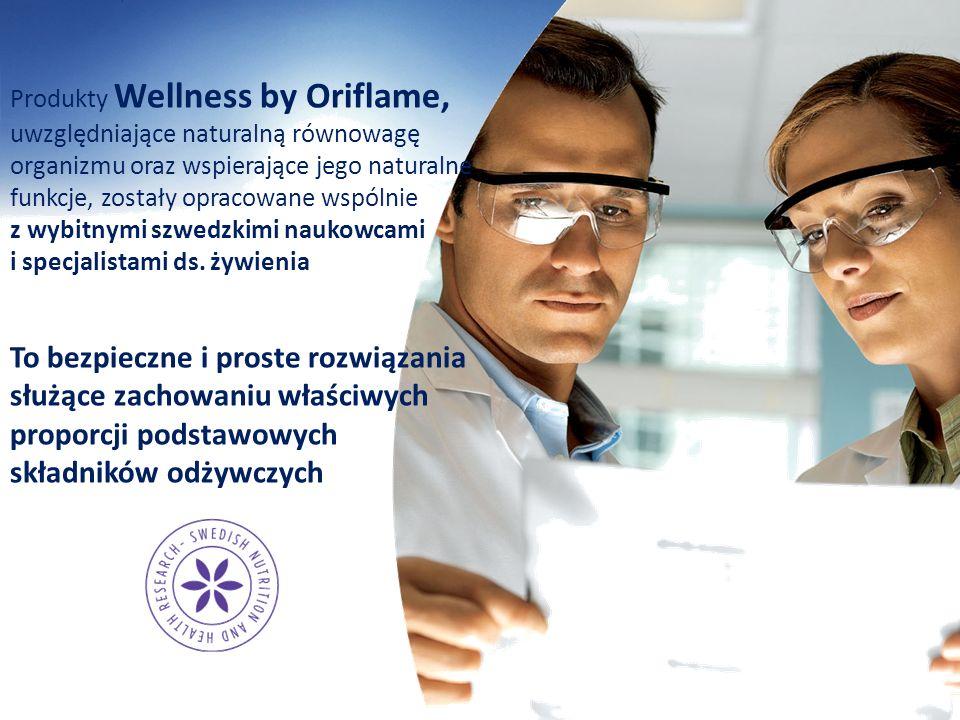 Produkty Wellness by Oriflame, uwzględniające naturalną równowagę organizmu oraz wspierające jego naturalne funkcje, zostały opracowane wspólnie z wybitnymi szwedzkimi naukowcami i specjalistami ds. żywienia
