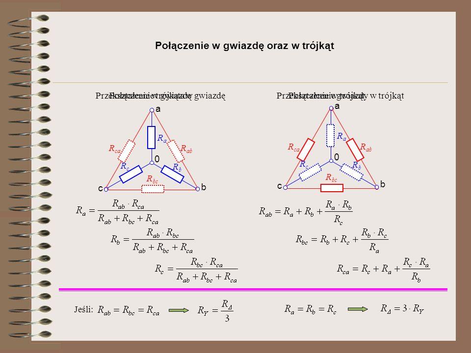 Połączenie w gwiazdę oraz w trójkąt