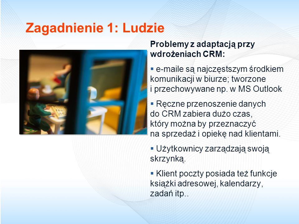 Zagadnienie 1: Ludzie Problemy z adaptacją przy wdrożeniach CRM: