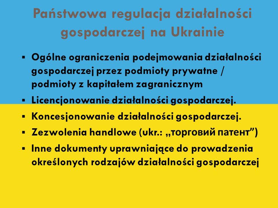 Państwowa regulacja działalności gospodarczej na Ukrainie