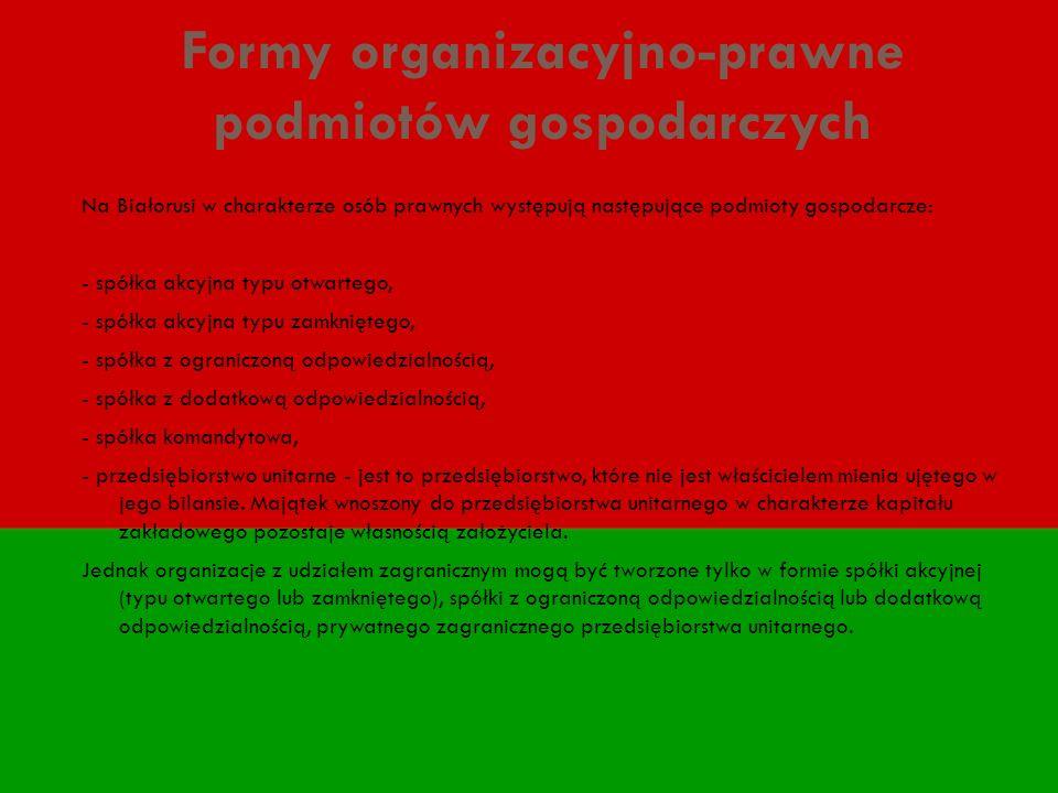 Formy organizacyjno-prawne podmiotów gospodarczych