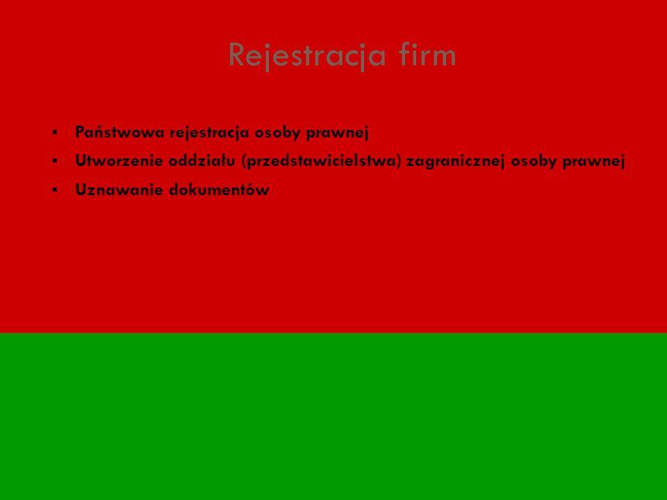 Rejestracja firm Państwowa rejestracja osoby prawnej