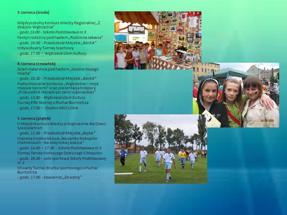 """3 czerwca (środa) Międzyszkolny Konkurs Wiedzy Regionalnej """"Z dziejów Wąbrzeźna - godz.13.00 - Szkoła Podstawowa nr 3."""