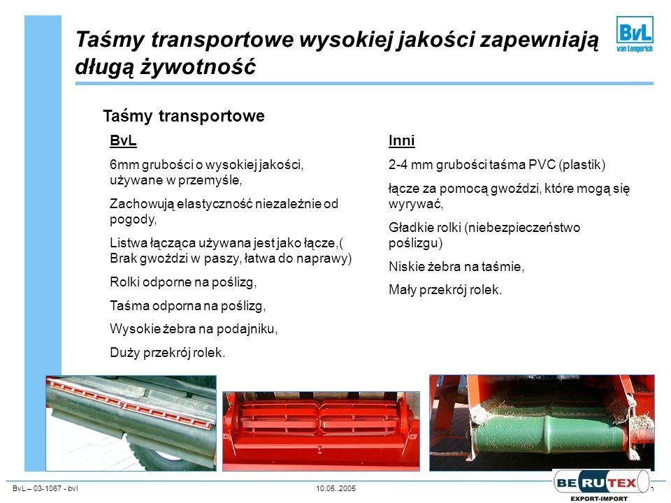 Taśmy transportowe wysokiej jakości zapewniają długą żywotność