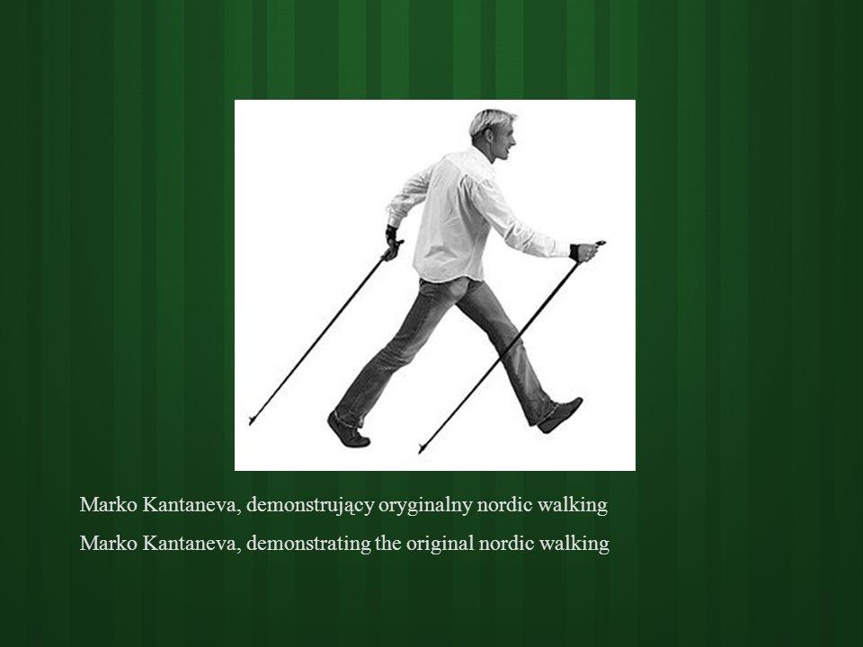 Marko Kantaneva, demonstrujący oryginalny nordic walking