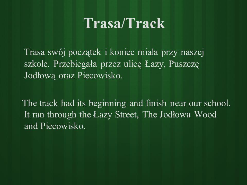 Trasa/Track Trasa swój początek i koniec miała przy naszej szkole. Przebiegała przez ulicę Łazy, Puszczę Jodłową oraz Piecowisko.