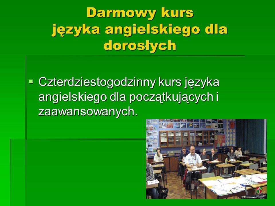 Darmowy kurs języka angielskiego dla dorosłych