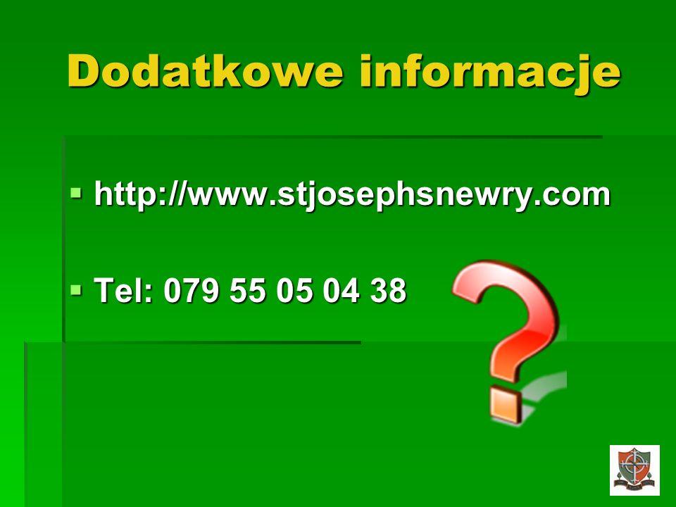 Dodatkowe informacje http://www.stjosephsnewry.com