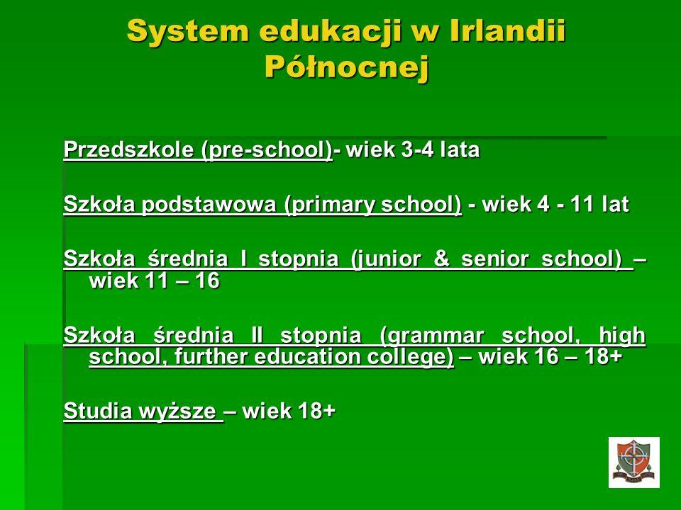System edukacji w Irlandii Północnej