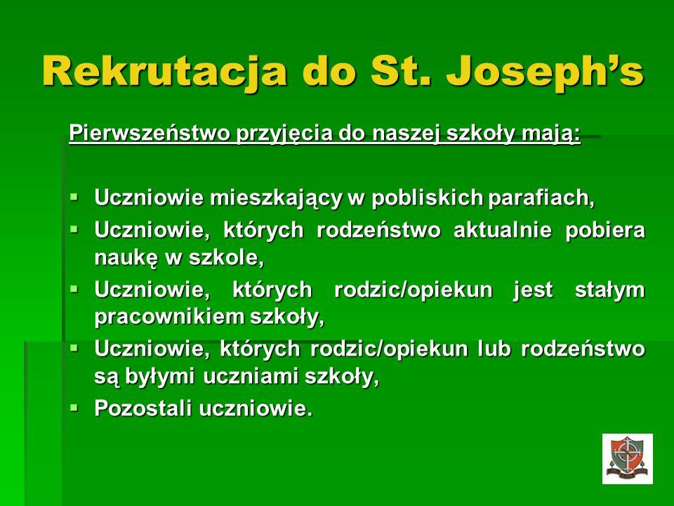 Rekrutacja do St. Joseph's