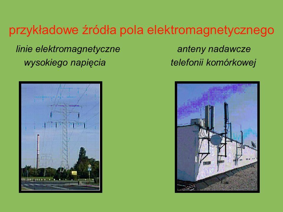 przykładowe źródła pola elektromagnetycznego